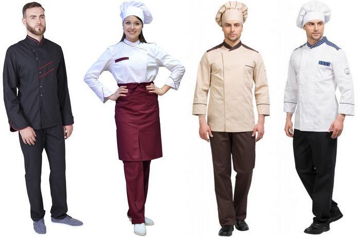 Одежда из сатори для поваров и работников кухни