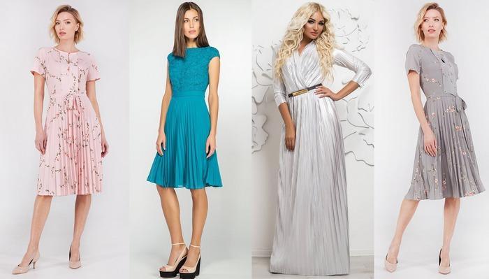 Платья, ткань гофре