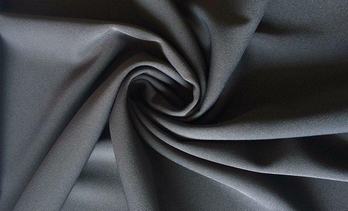 Плотная костюмная ткань пикачу классического серого цвета