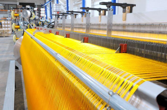 Производство полиамидной ткани