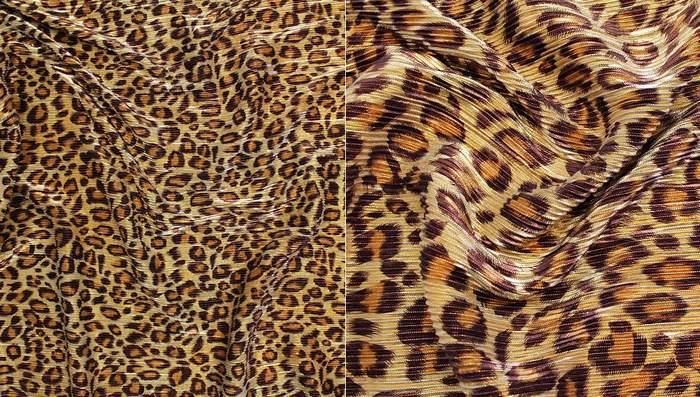 Трикотаж гофре леопард