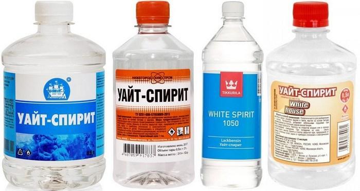 Уайт-спирит для выведения пятен