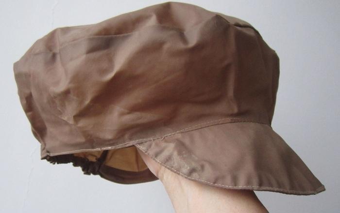 Винтажная кепка из ткани болонья