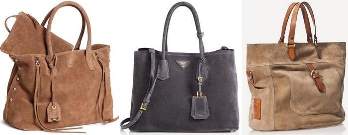 Женские сумочки из замши