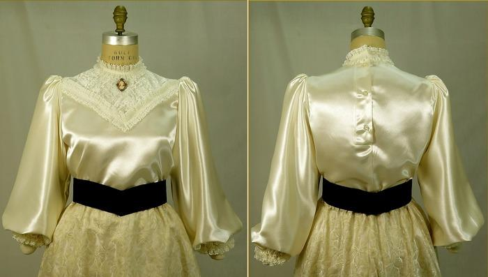 Блузка из креп-сатина, 1900-1915 год