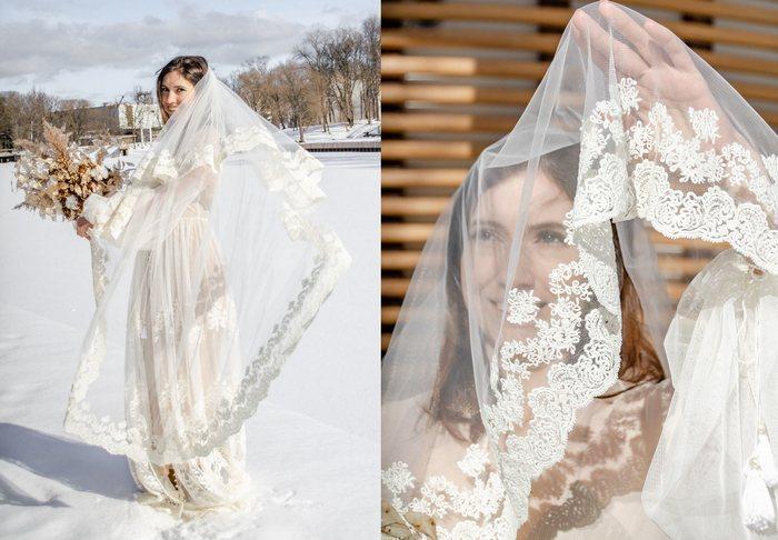 Фата для невесты из еврофатина