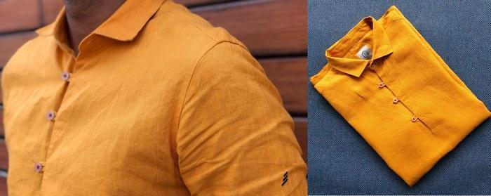 Мужская рубашка из конопляной ткани