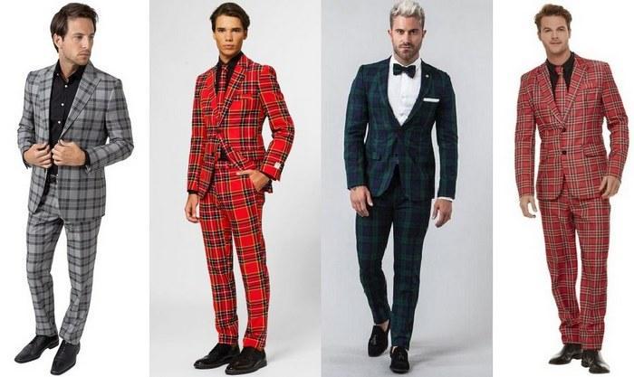 Мужские костюмы из шотландки