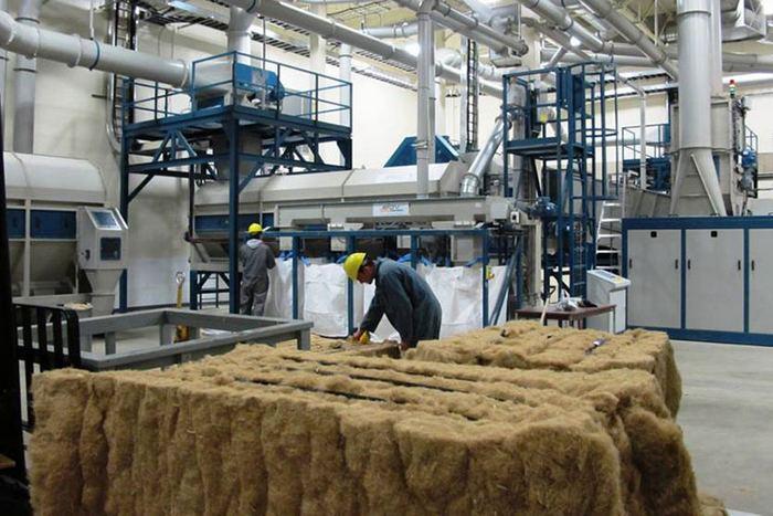 Переработка конопляного волокна на заводе