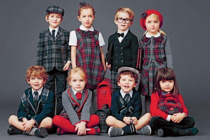 Школьная форма из шотландки