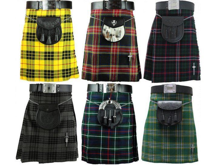 Ткань шотландка применяется для пошива килтов