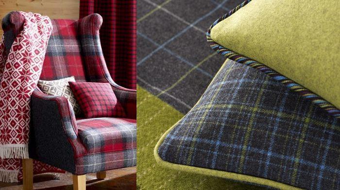 Ткань шотландка в интерьере