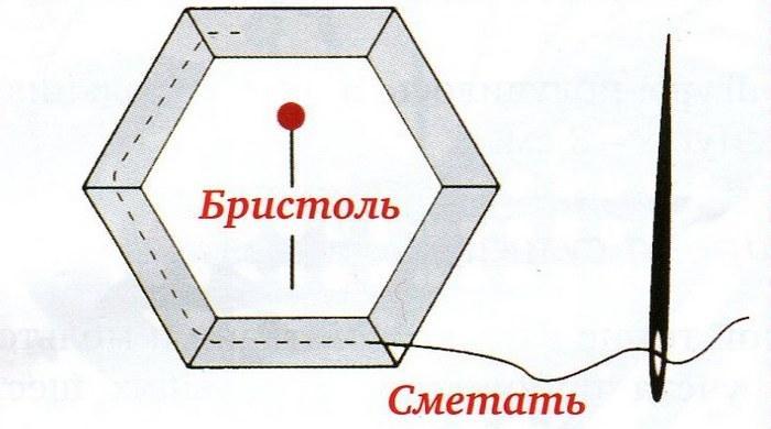 Английская техника шестиугольник 2