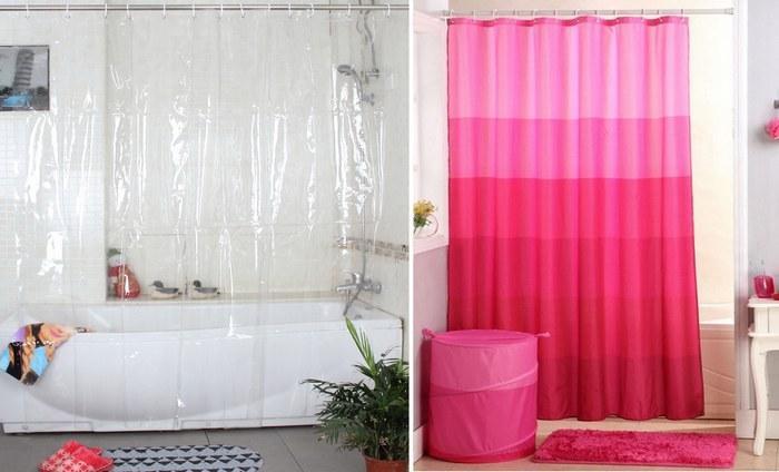 Из ПВХ производят шторы для ванн