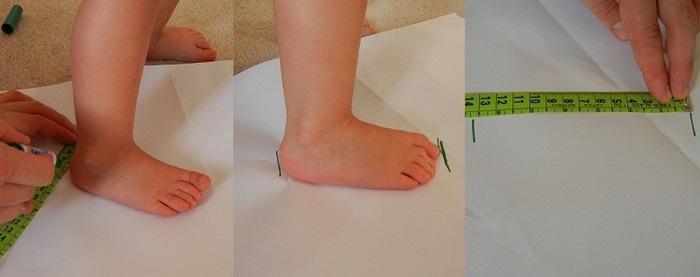 Как узнать какой размер ноги у ребенка