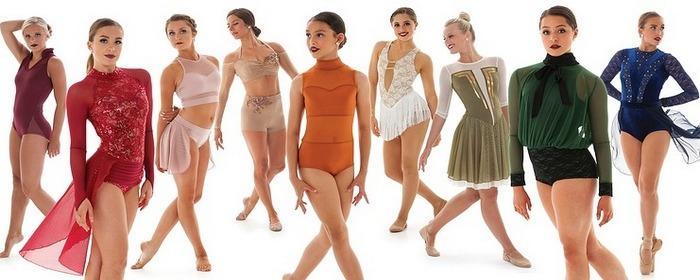 Костюмы для спортивных и бальных танцев из блестящей ткани