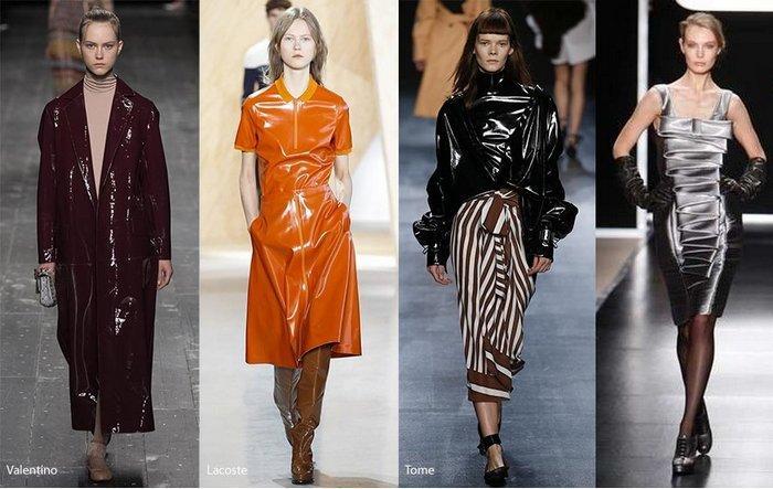 Модная одежда из блестящей ткани фото