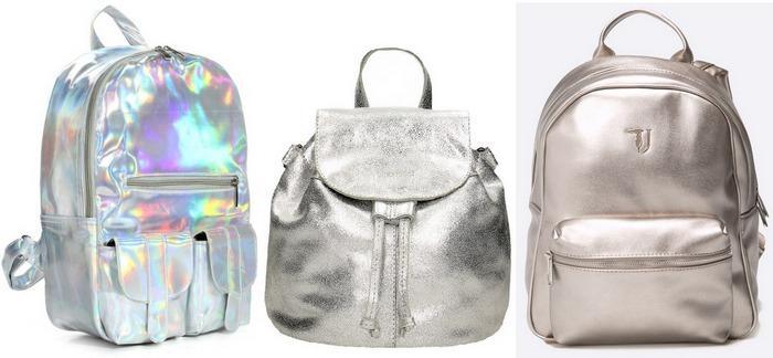 Рюкзаки из блестящей ткани