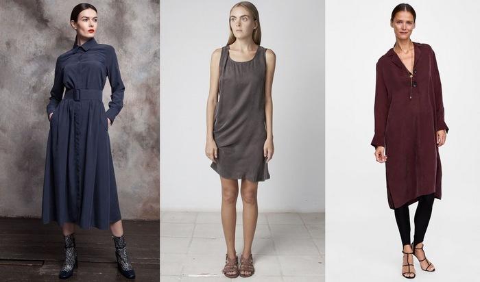Женские платья и сарафаны из мокрого шелка