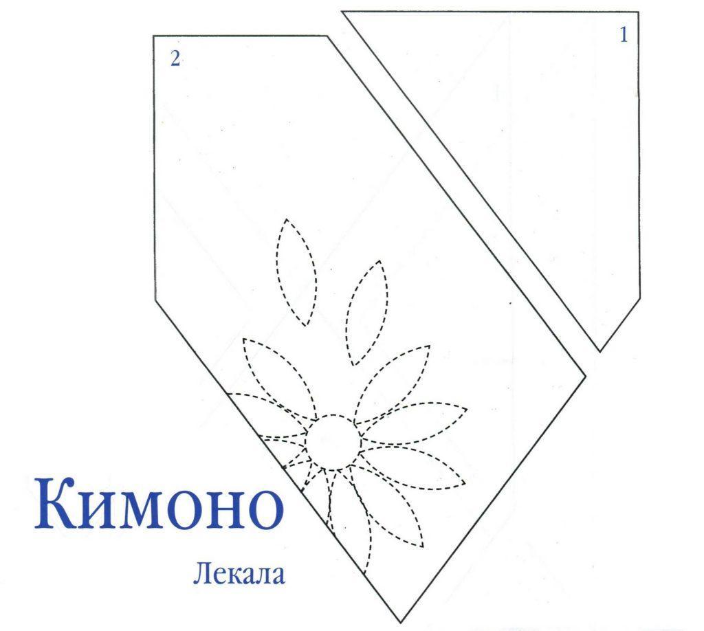 Бути кимоно лекало 1