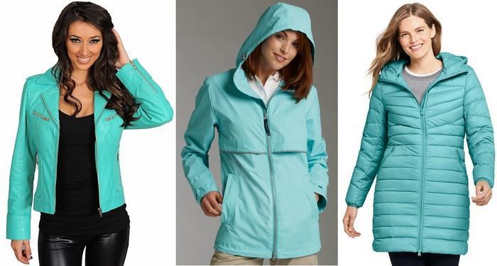 Фото курток бирюзового цвета