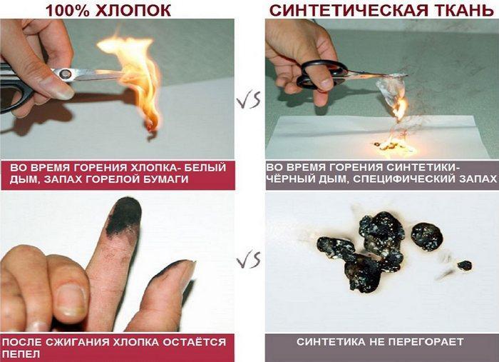 Как понять синтетика или хлопок фото