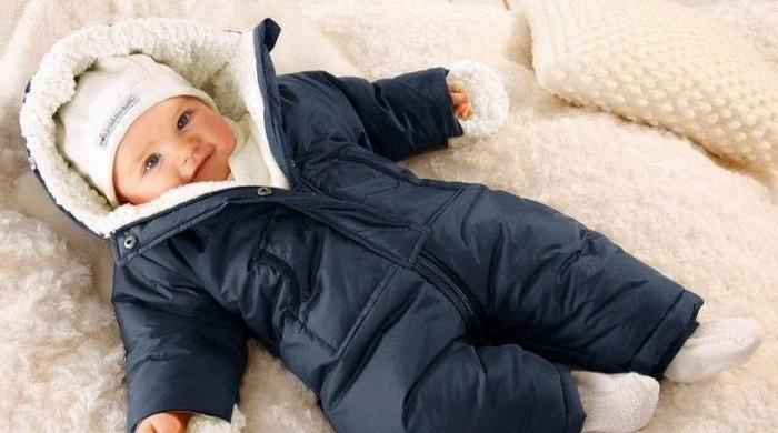 Комбинезон зимний для новорожденного фото