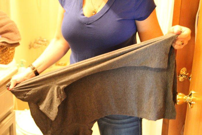 Одежда растягивается преимущественно после отжима