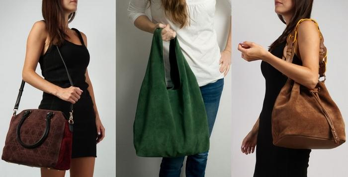 Женские сумки из спилка