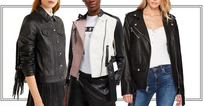 Фото женских кожаных курток