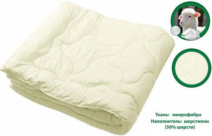 Одеяло из микрофибры с наполнителем шерстипон фото