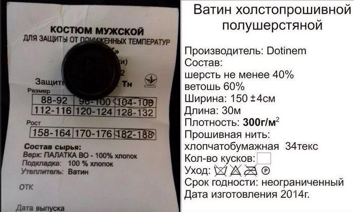 Состав: утеплитель ватин, фото