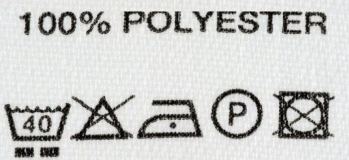 Уход за тканью из полиэстера значки, фото
