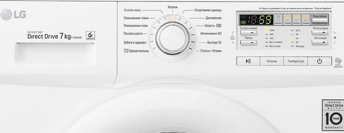 Значки на стиральной машине LG, фото