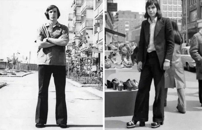 Брюки клеш носили и мужчины в 70-х, фото