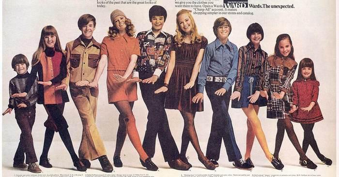 Детская мода 70-х годов за рубежом, фото