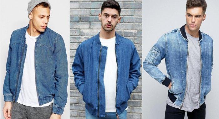 Джинсовые куртки бомбер мужские фото