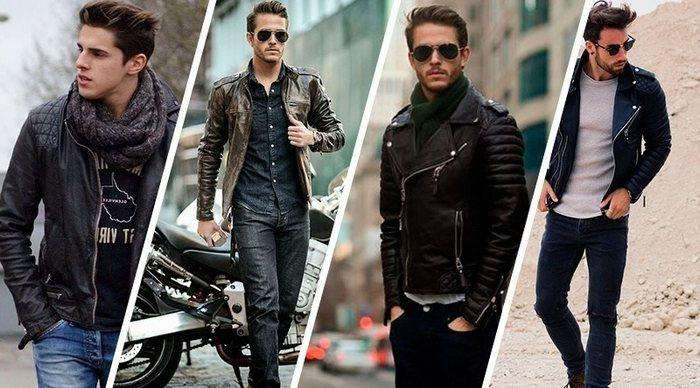 Как должна правильно сидеть кожаная куртка на мужчине фото