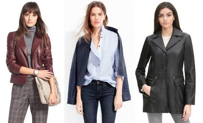 Кожаная куртка женская деловой стиль, фото