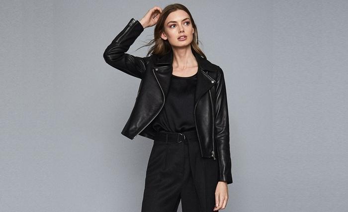 Куртка кожаная женская с чем носить фото