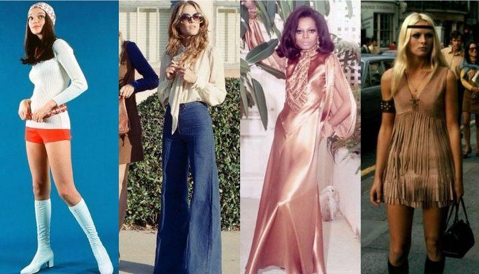 Мода 70 х годов фото одежда девушки