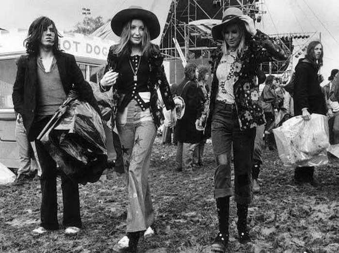 Мода 70-х за рубежом фото