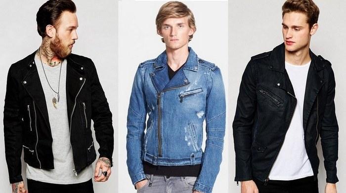 Мужские джинсовые куртки косухи фото