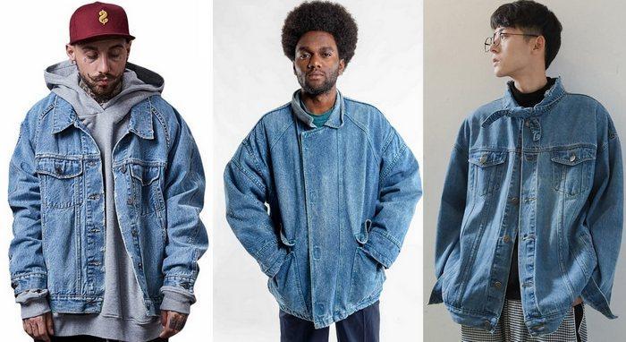 Мужские джинсовые куртки оверсайз фото