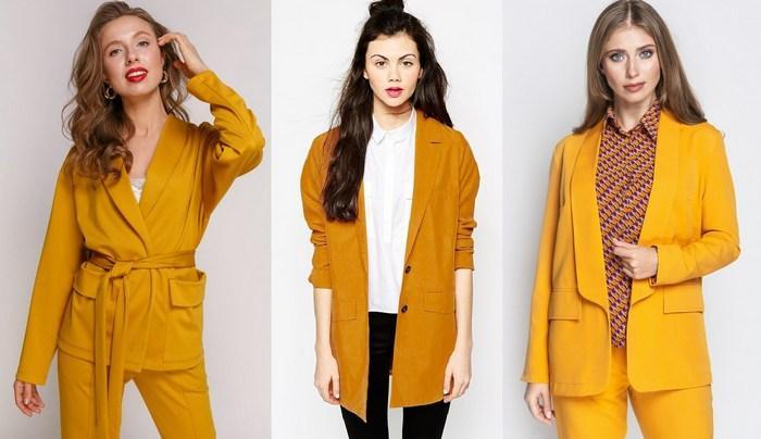 Пиджаки горчичного цвета фото