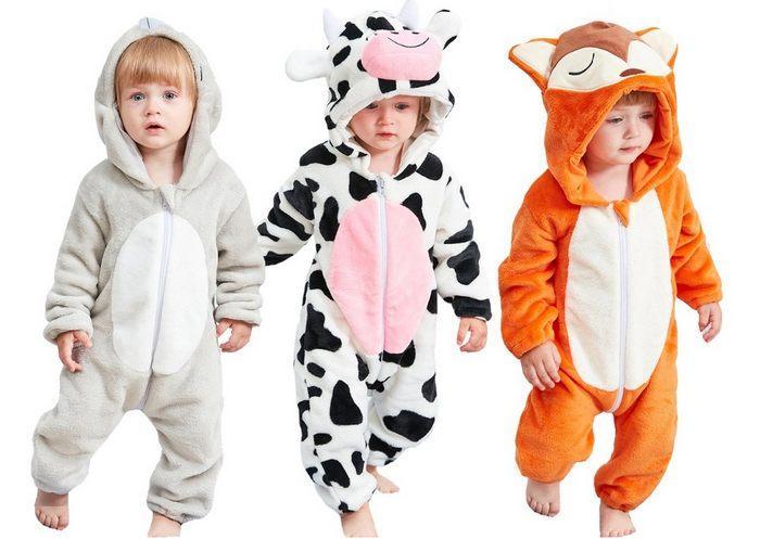 Пижамы комбинезоны для детей в виде животных фото