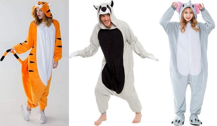 Пижамы в виде животных для девушек и парней фото