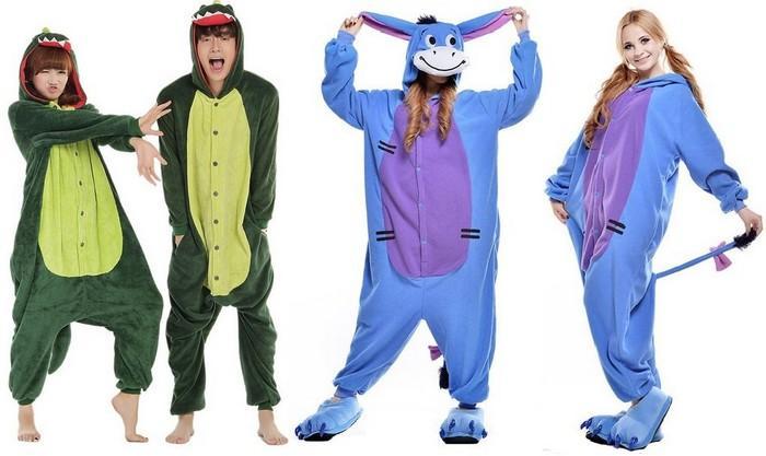 Пижамы в виде животных для женщин и мужчин фото