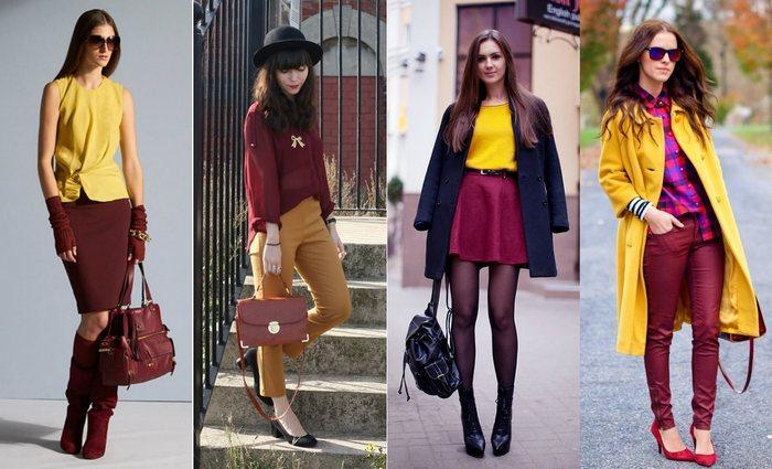 С какими цветами сочетается горчичный цвет в одежде