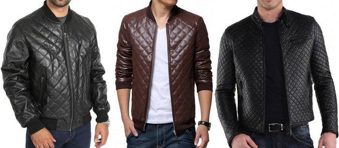 Стеганые кожаные куртки мужские фото